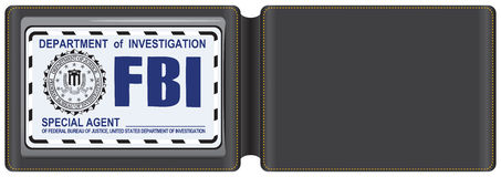 Leather Case For The Fbi Certificate Royalty Free Stock Photography