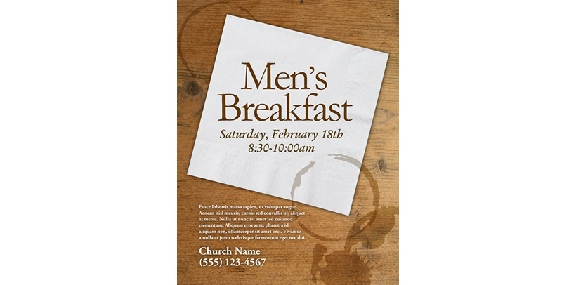 Men S Breakfast Religious Brochure