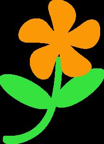 Orange Flower Stem Clip Art At Clker Com   Vector Clip Art Online