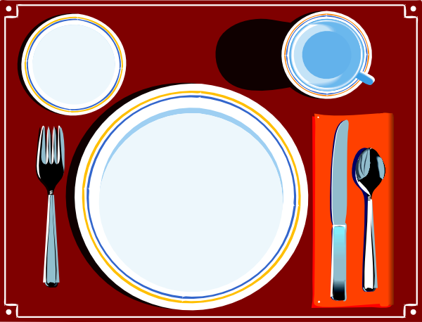 Place Setting Clip Art At Clker Com   Vector Clip Art Online Royalty