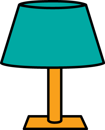 Table Lamp Clip Art Image   Gold Table Lamp With A Teal Lamp Shade