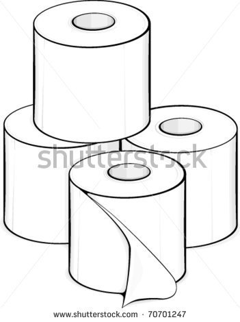 Toilet Paper Roll Clipart Toilet Paper Rolls   Stock