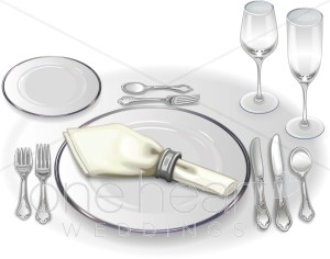 Wedding Place Setting Clipart   Wedding Food Clipart