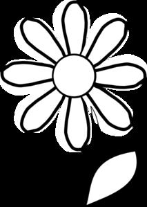 White Daisy With Stem Clip Art At Clker Com   Vector Clip Art Online
