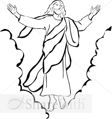 Ascension Of Our Lord Christian Clipart   Ascension Day Clipart