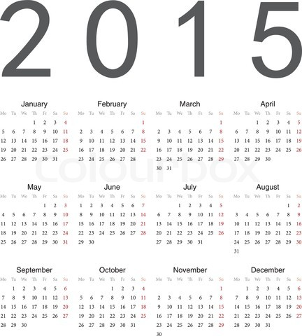 Calendar For Year 2015 014 Alegoo Com #wxBYZL - Clipart Kid