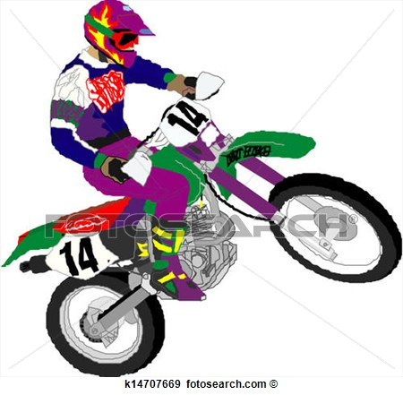 Clip Art   Motorcycle Racer   Fotosearch   Search Clipart