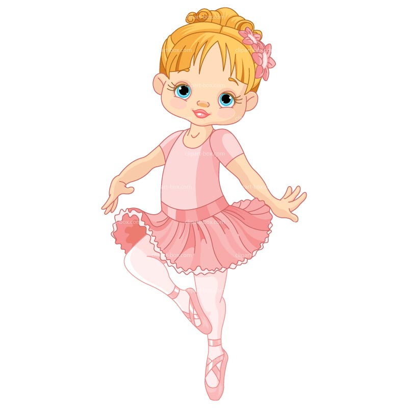 Clipart Little Ballerina   Royalty Free Vector Design
