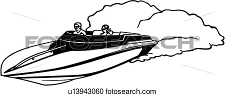 Clipart Of  Boat Power Racer Speed Sport U13943060   Search Clip
