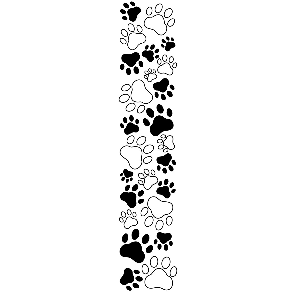 Dog Paw Prints Border Clipart - Clipart Kid