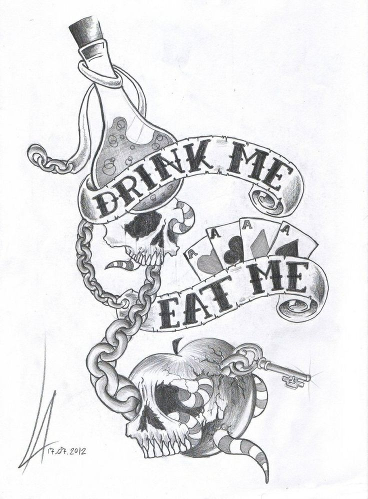 Drink Me Eat Me   Alice Tattoo   Pinterest   Drink Me And Drinks