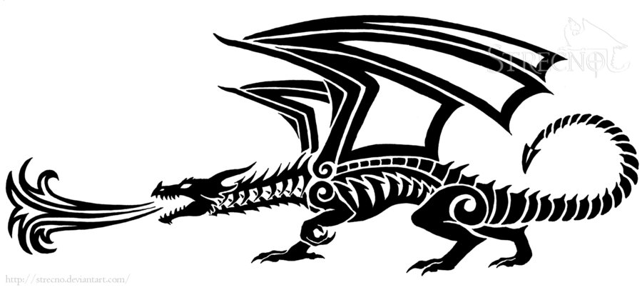 Fire Breathing Dragon Tattoo Version 1 By Strecno On Deviantart