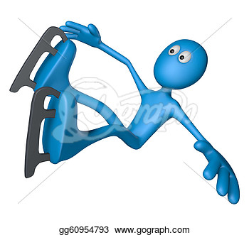 Guy Is Falling   3d Illustration  Clipart Illustrations Gg60954793