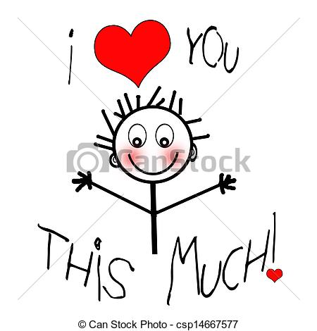 I Love You This Much Clipart - Clipart Kid