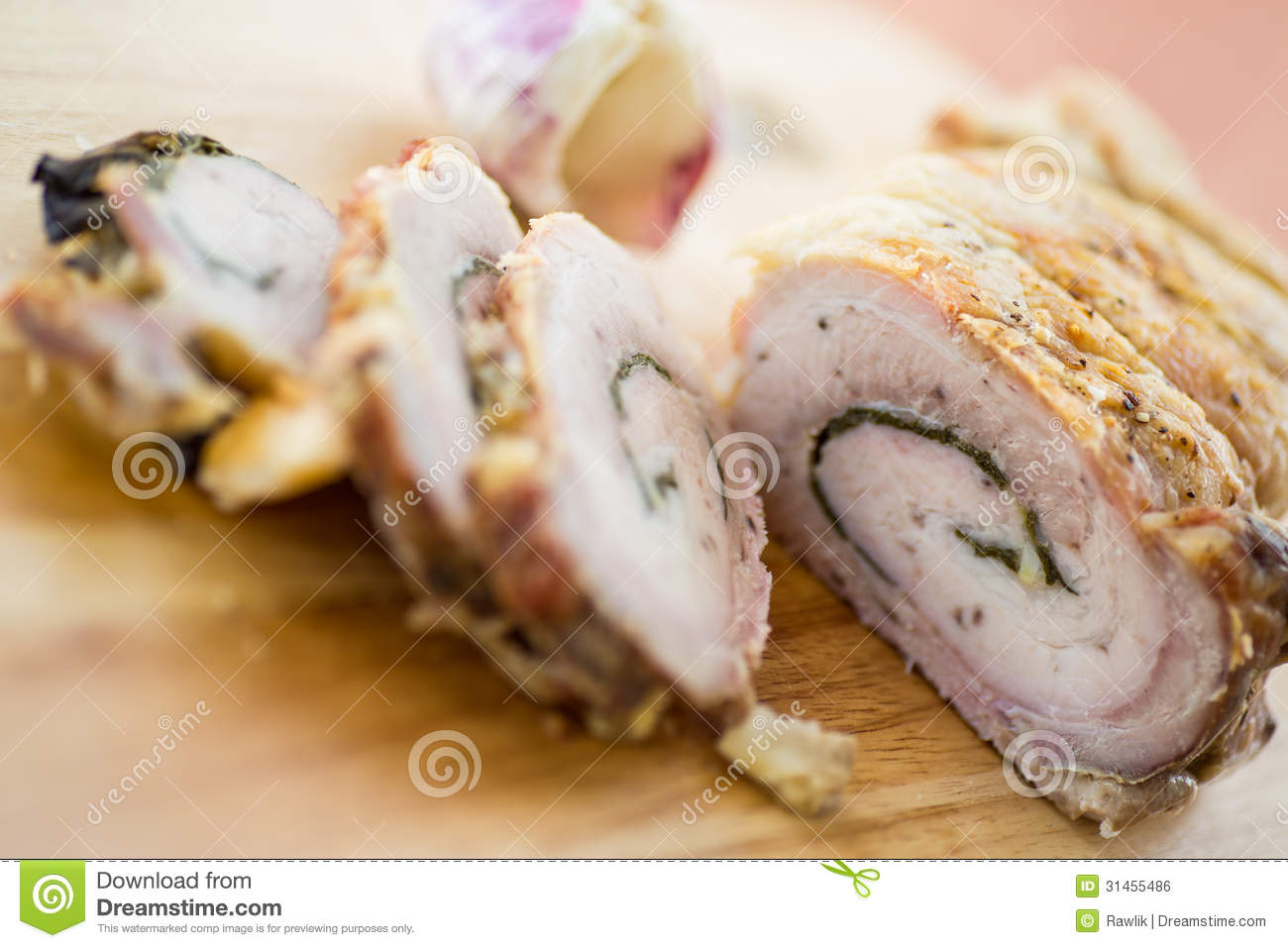 Meat Loaf Baked With Scallions Royalty Free Stock Image   Image