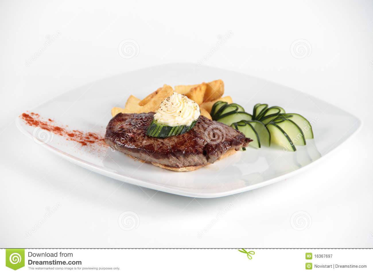 Meat Loaf Decorated With Vegetables Royalty Free Stock Photography