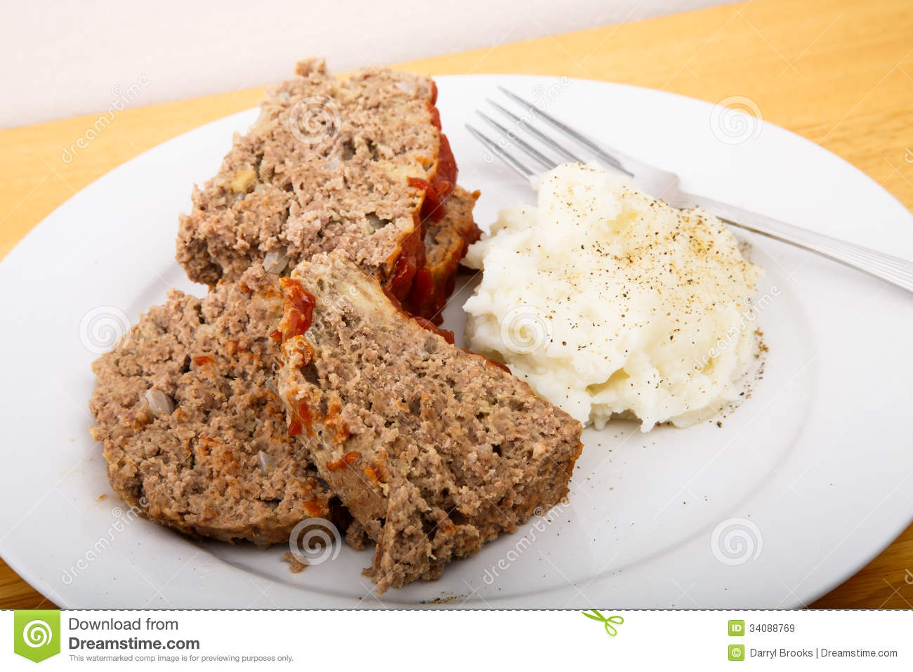 Meatloaf And Mashed Potatoes Royalty Free Stock Images   Image