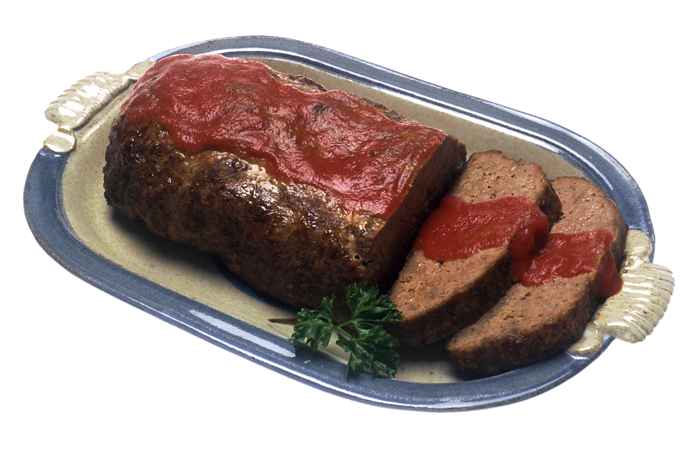 Meatloaf Served With Sauce