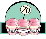 Related Clip Art 70th Candles 70th Balloons 70th Birthday Party 3