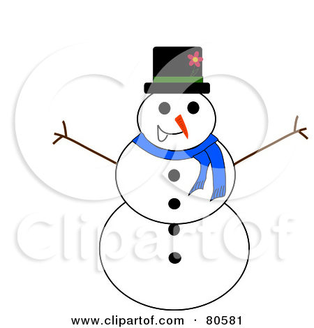 Royalty Free  Rf  Clipart Illustration Of A Top Hat Snowman
