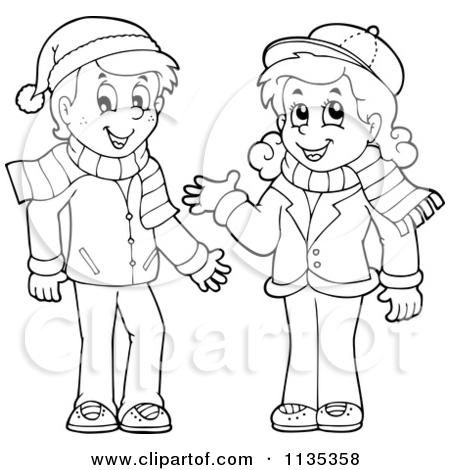 Royalty Free  Rf  Winter Apparel Clipart   Illustrations  1