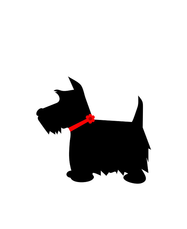 Scottish Terrier Dog Silhouette Ipad Cases   Skins By Roughcollie5
