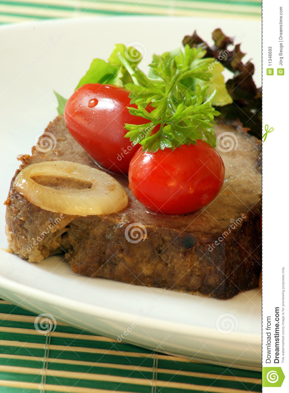 Similar Stock Images Of   Sliced Meat Loaf With Parsley On A Plate