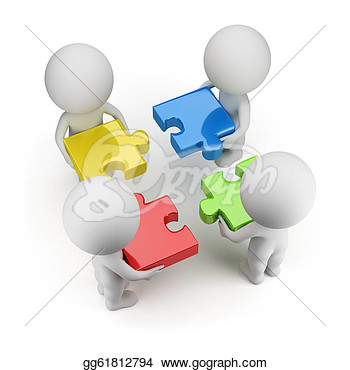 Small Group Of People Clip Art 3d Small People   Team With