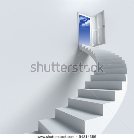 Stairway To Heaven As Success Or Achievement   Stock Photo