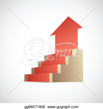 Stock Illustration   Steps To Success Metaphor  Clipart Gg66571906