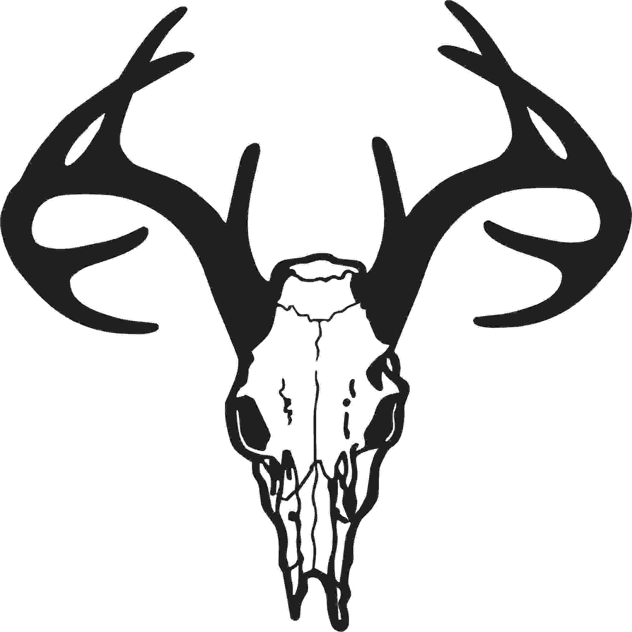 18 Deer Skull Silhouette Free Cliparts That You Can Download To You
