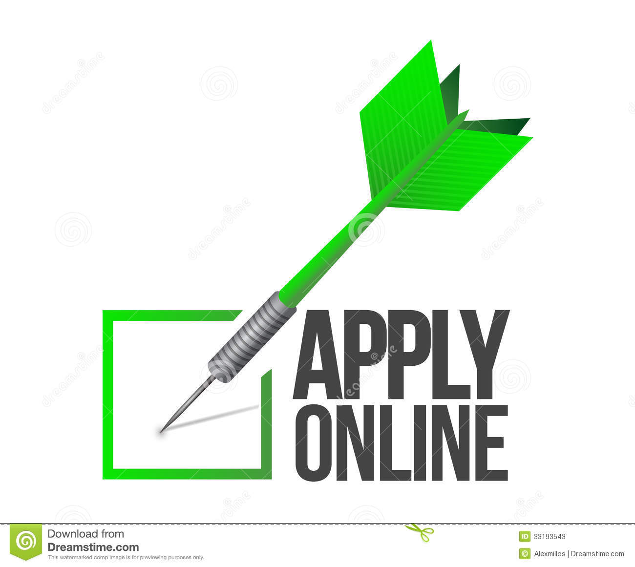 Apply Online Check Mark Dart Illustration Stock Photos   Image