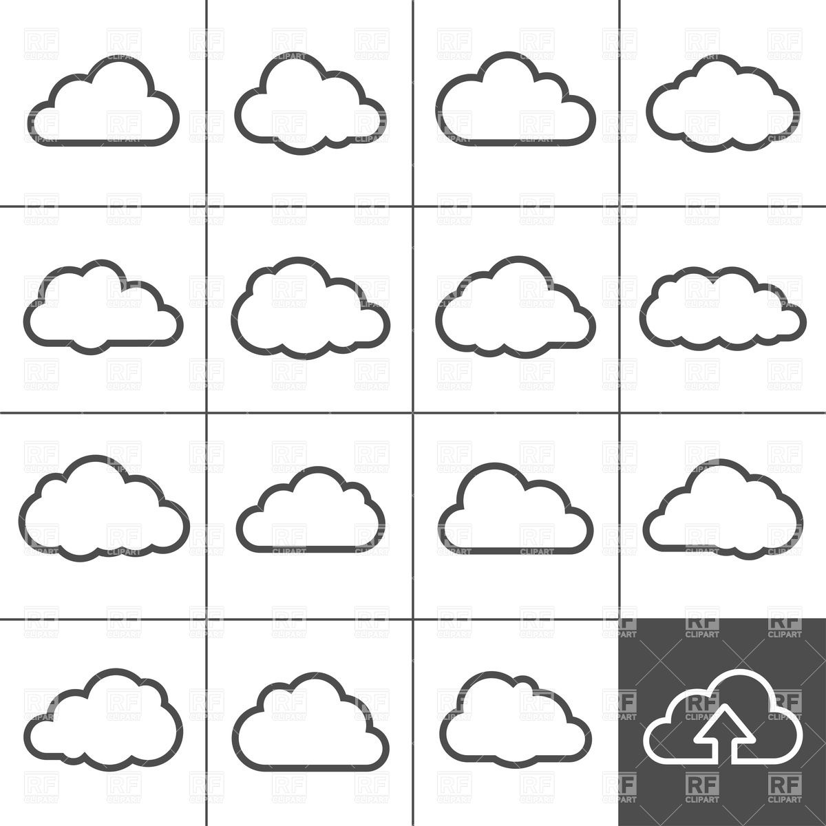 Cloud Shapes Clipart - Clipart Kid