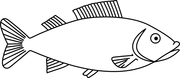 Fish Outline 3 Clip Art At Clker Com   Vector Clip Art Online Royalty