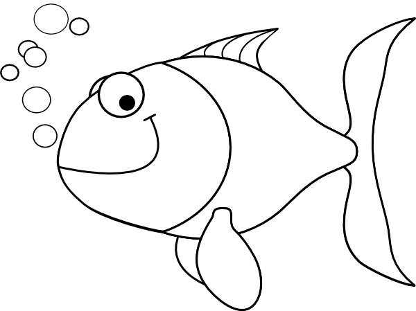 Fish Outline Clip Art At Clker Com   Vector Clip Art Online Royalty