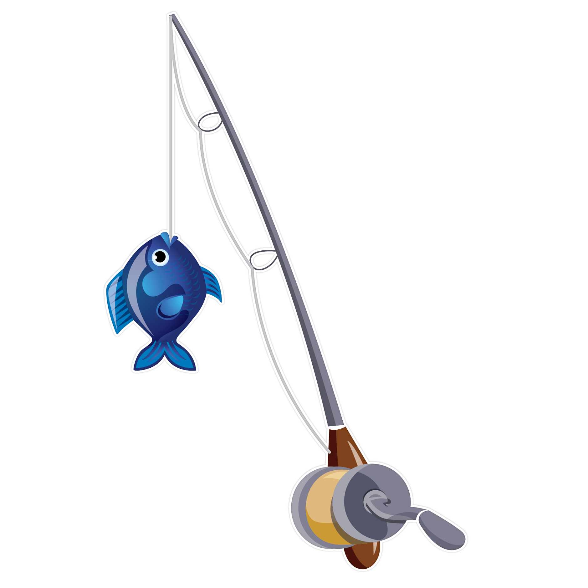 fish and fishing pole clipart - clipart kid, Fishing Rod
