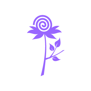Flower Clipart   Purple Swirl Flower With White Background   Download