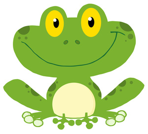 Frog Clipart Image   Cartoon Of A Happy Frog Sitting Down And Smiling