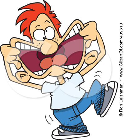 Funny Clip Art 439618 Cartoon Arrogant Boy Making Funny Faces Poster