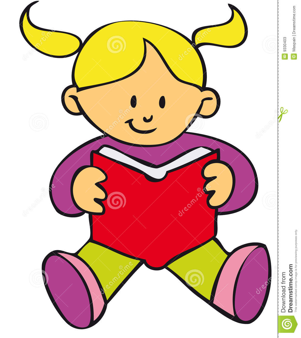 Girl With Book Clipart Clipart Suggest