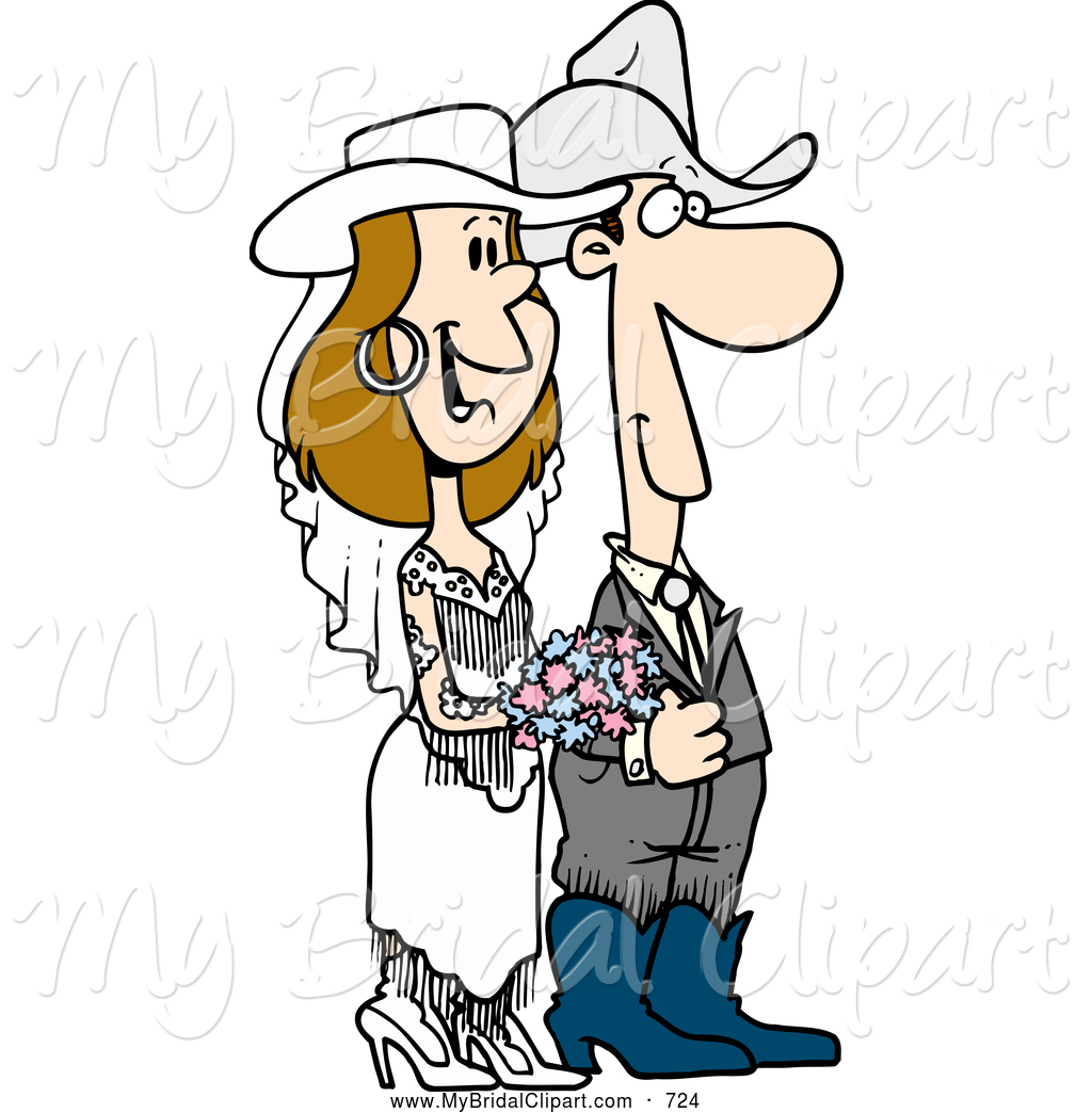 Happy Western Wedding Couple Grinning Young Wedding Couple Dancing At