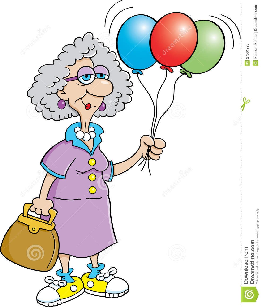 Holding Balloons 27561998 Funny Old People Clipart Images   Frompo
