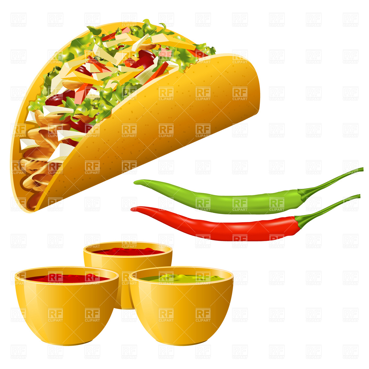 Mexican Food   Taco With Hot Pepper Food And Beverages Download