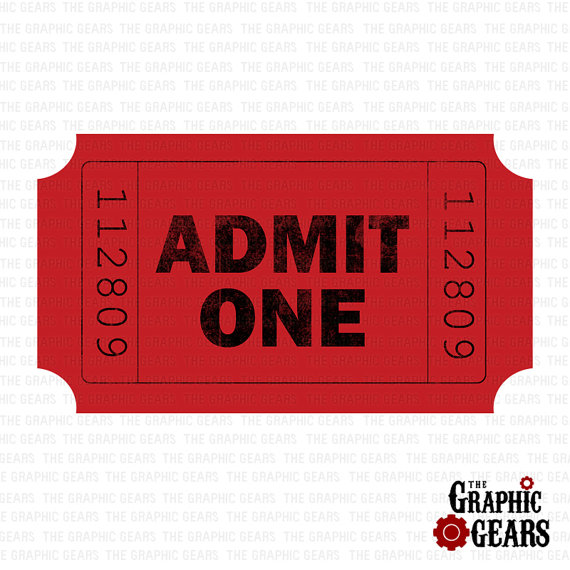 Admit One Ticket Clipart - Clipart Suggest