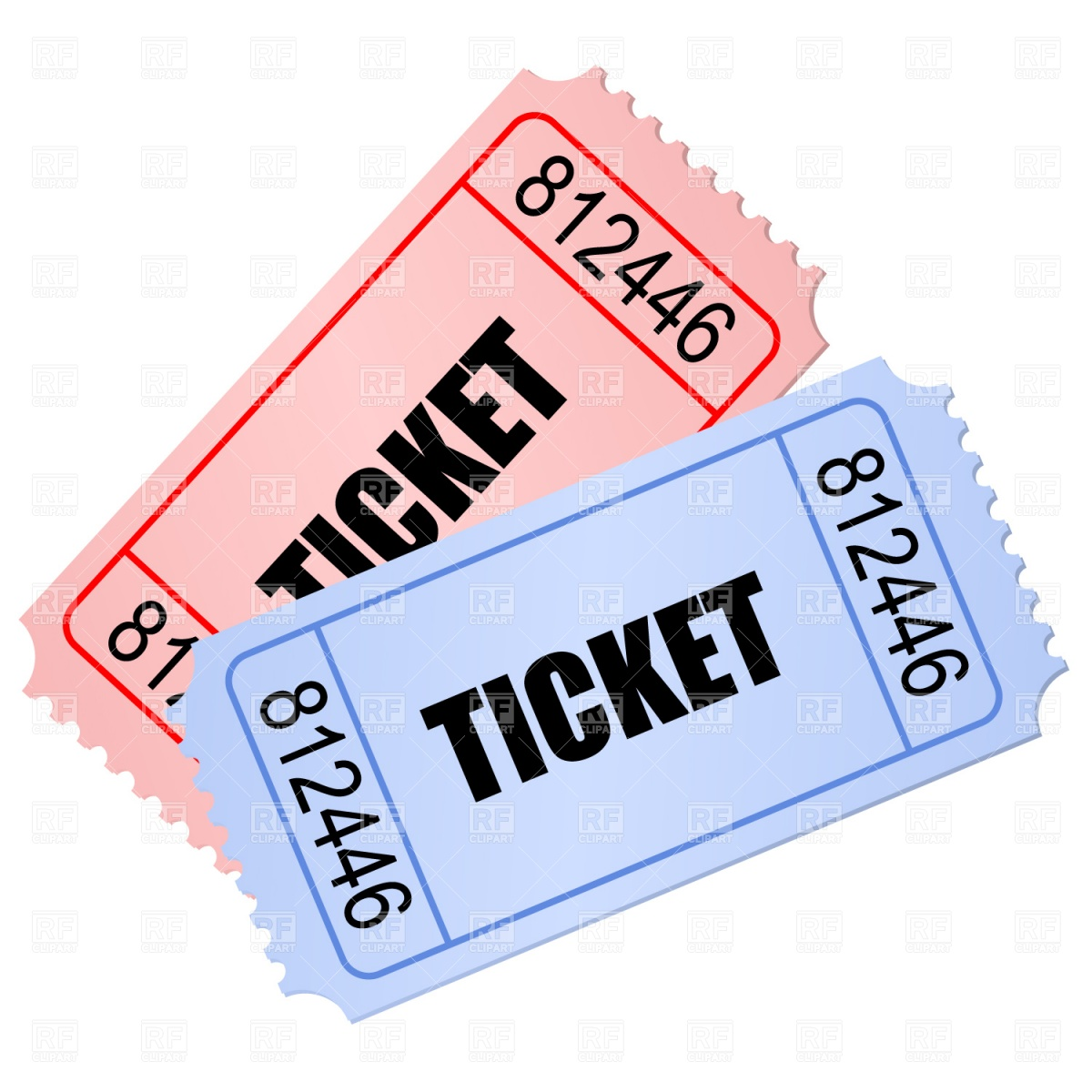 Tickets 1082 Objects Download Royalty Free Vector Clip Art  Eps