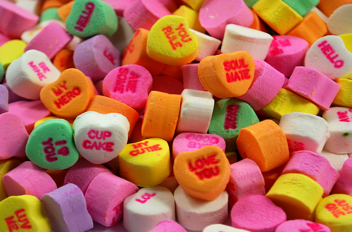 Candy Hearts Clipart - Clipart Suggest