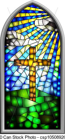 Glass Church Windows Clip Art