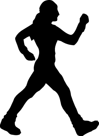 Walking Silhouette Clipart - Clipart Kid