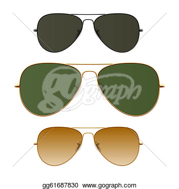 Clip Art   Sunglasses Vector Illustration   Stock Illustration