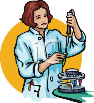 Blood Lab Technician Clip Art